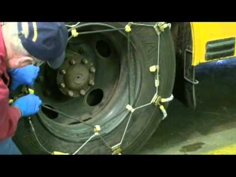 Bus Tire Chain Installation Youtube