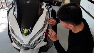 오토바이 하체바람막이 PCX에 부착하기
