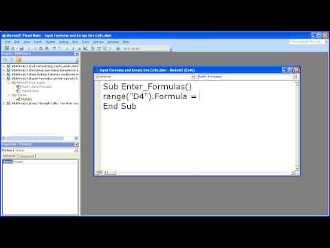Excel Macro VBA Tip 9 - Enter Formulas In Excel With A Macro