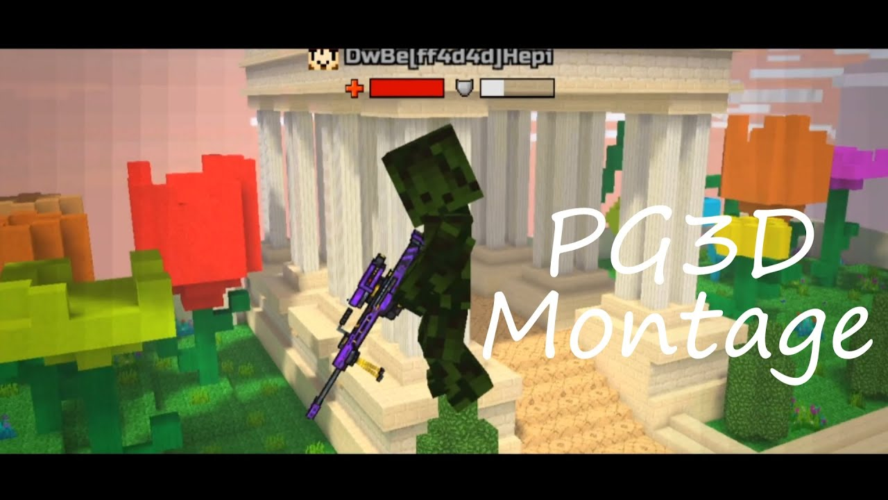 Pixel gun 3d but its a Montage lol