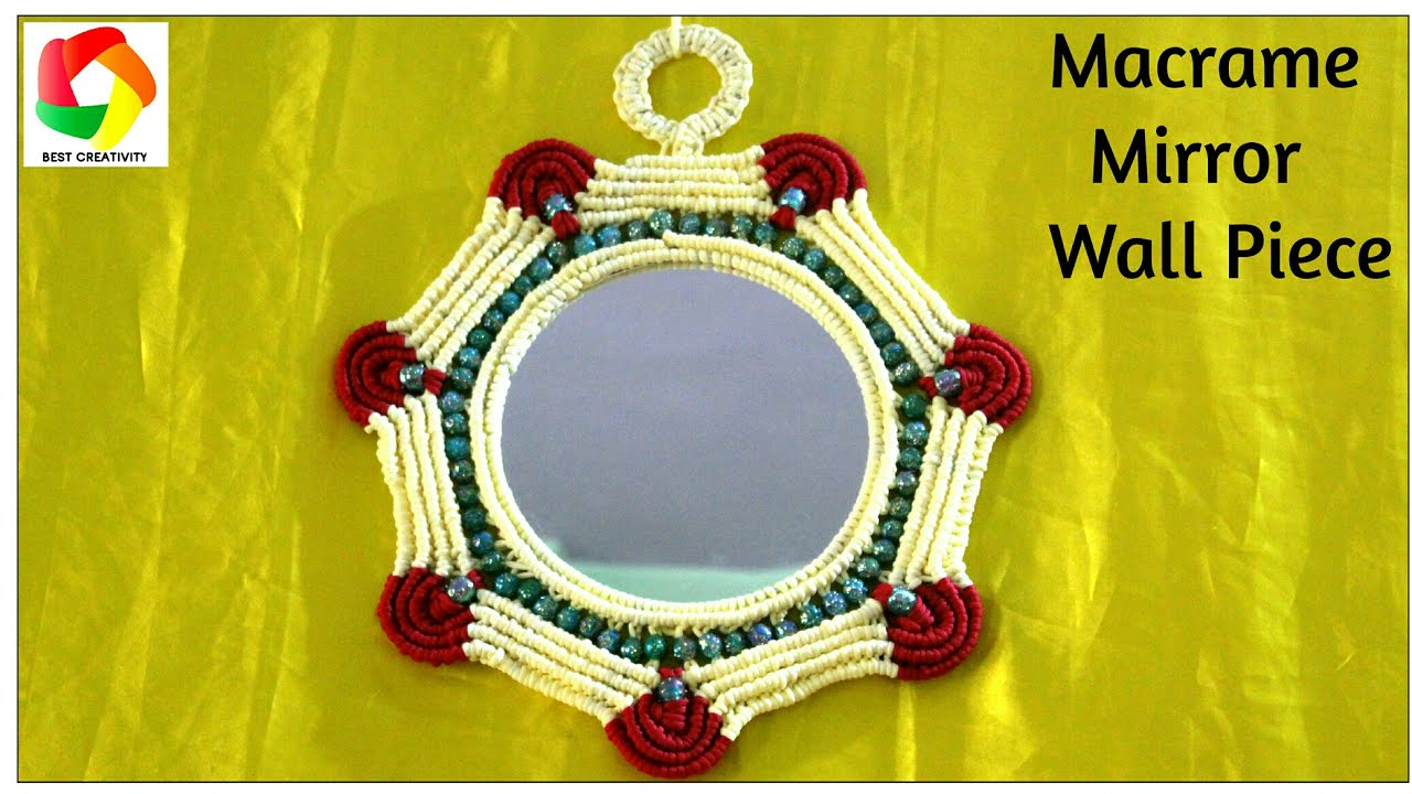 Simple Macrame Mirror Wall Hanging New Design 2017 3