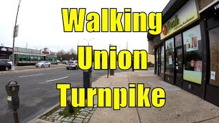 ⁴ᴷ⁶⁰ Walking NYC : Eastern Queens via Union Turnpike from Forest Hills to Nassau County, Long Island