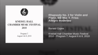 Rhapsody No. 2 for Violin and Piano, BB 96a: II. Friss: Allegro moderato
