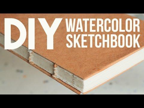 DIY: Watercolor Sketchbook (No Bookpress)