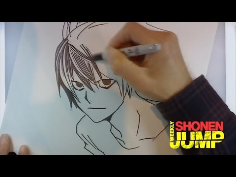 Takeshi Obata Drawing L from Death Note