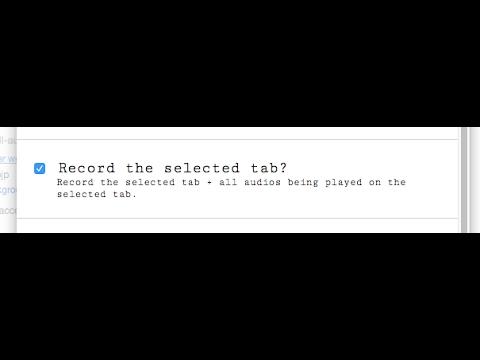 Record Chrome Tab Activities using RecordRTC!