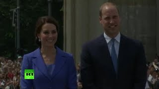Duke & Duchess of Cambridge visit Bradenburg Gate