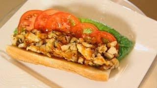 Панини с курицей и грибами. Рецепт от шеф-повара.