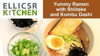 Yummy Ramen With Shiitake And Kombu Dashi