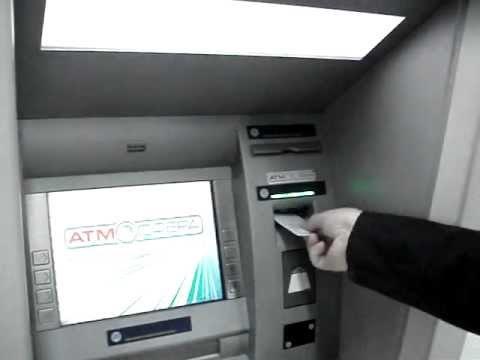 снимаю деньги через банкомат