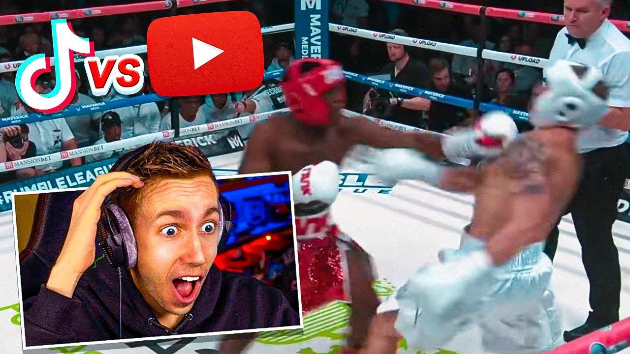 YouTube vs TikTok boxing: KSI brilliantly reacts to Bryce Hall knockout