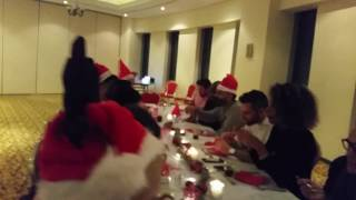 First Christmas Dinner in Dubai with crazy Scandinavian Santa Princess Tower Marina