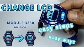 HOW TO CHANGE LCD G-SHOCK DW 6900 / CARA MERUBAH (MENUKAR) LCD DW 6900 / gshockindonesia