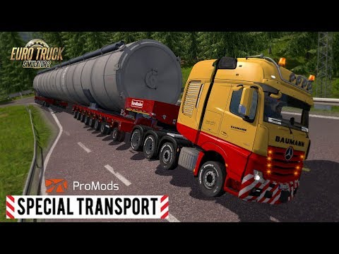 ETS2 I Special Transport I Big Stars 🚚 MEGA Silo Long Trailer 🔵 #670 ProMods Tour [Deutsch/HD]