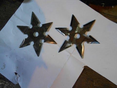 как сделать метательную звезду (сюрикен)