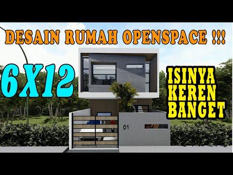 DESAIN RUMAH 6x12 DENGAN KONSEP OPENSPACE, RUMAHNYA KEREN BANGET LOH... DESIGN BY ORLEANS STUDIO