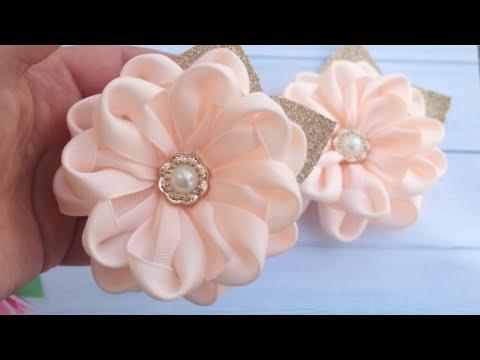Нежные цветы из лент , мк/Delicate Ribbon Flowers