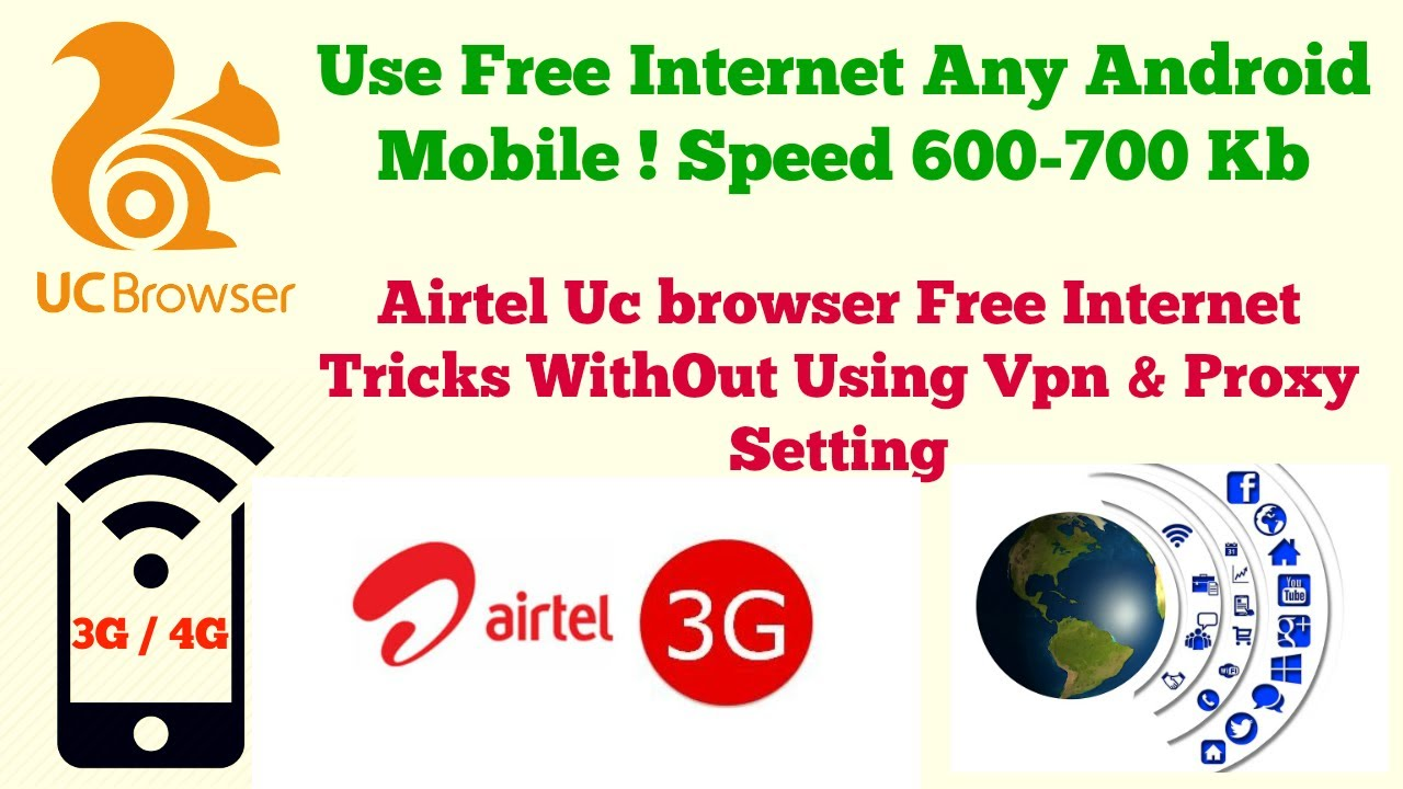 High Speed Free 3G/4G Internet Using Uc Browser 2017 Tricks Speed 600/700  Kb by Android Tech Tricks