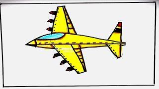 رسم ????طائرة حرب ستة اكتوبر رسم 6 أكتوبر نصر 73 سهل جدا بالخطوات
