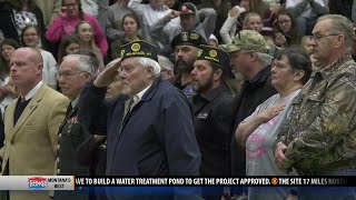 Belgrade High School honors military with Veterans Day assembly
