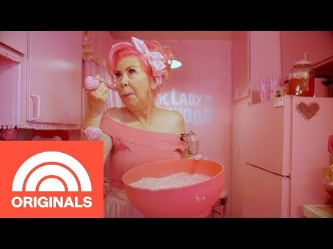 The Pink Lady Of Hollywood Shows Off The World's Pinkest Kitchen   Crazy Kitchens   TODAY