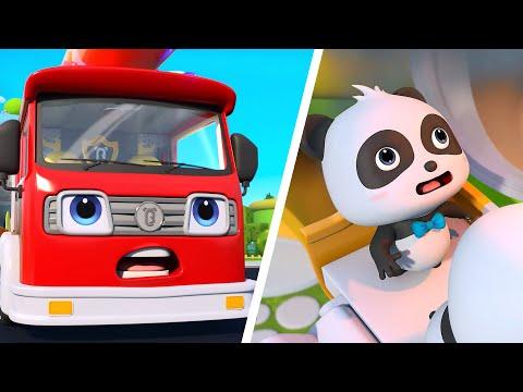 Fire Truck Is Coming | Monster Cars For Kids | Nursery Rhymes | Kids Songs | Panda Cartoon | BabyBus