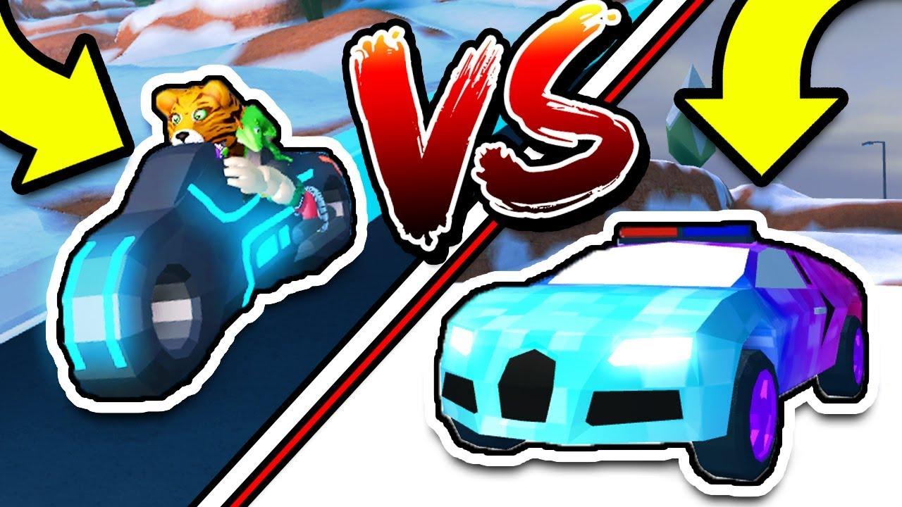 roblox jailbreak bugatti vs volt bike