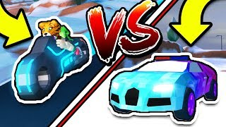 Roblox Jailbreak VOLT BIKE VS BUGATTI RACE ROUND 2! (Fastest Car In The Game!)
