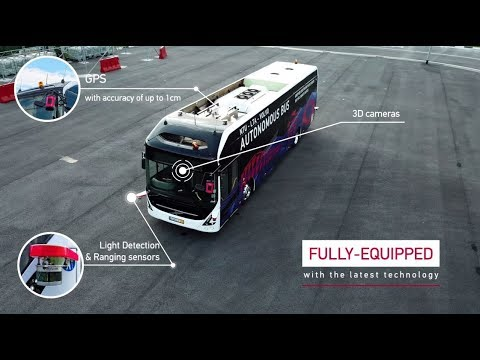 First Volvo full size autonomous electric bus, tested on #NTUsgSmartCampus