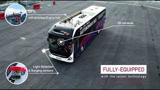 First Volvo full size autonomous electric bus, tested on #NTUsgSmartCampus thumbnail