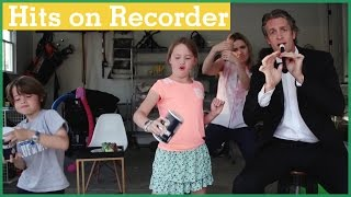 penn plays music hits on the recorder   the holderness family