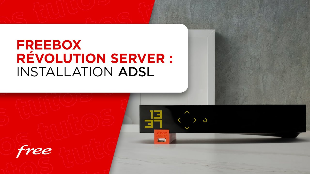 Freebox Revolution : installation du boîtier Server en ADSL