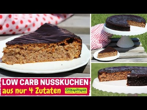 Saftiger 4 Zutaten Low Carb Nusskuchen Ohne Mehl Zucker Low Carb