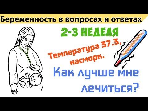 Температура на 2-3 недели беременности. Как будем лечиться?