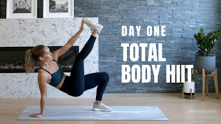DAY 1 Home Workout Challenge // Total Body HIIT (No Equipment)