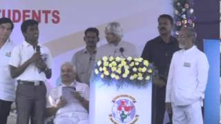 Lead India 2020 - Change Agents Naveen Karunaya Feedback at LB Stadium,on 4th Feb, 2013.MP4