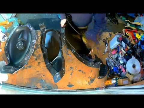 Carbon Fibre Aprilia RS250 fuel tank surface layer being laid.