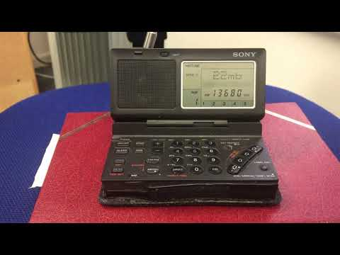 Voice of Hope Africa 13680 kHz, Lusaka, Zambia, copied in the office with Sony ICF-SW100