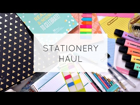 HUGE Stationery Haul! [2017]