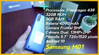 ▷ Samsung M01 Unboxing en México | 3 RAM + 32GB 📲