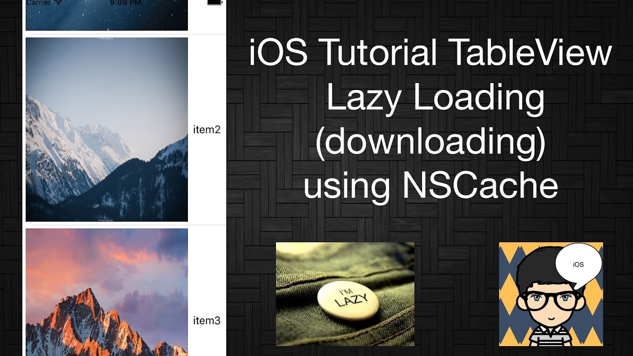 iOS Tutorial TableView Lazy Loading (Lazy downloading) using NSCache in  Swift 3