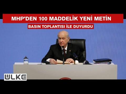 Devlet Bahçeli yeni anayasa teklifini açıkladı
