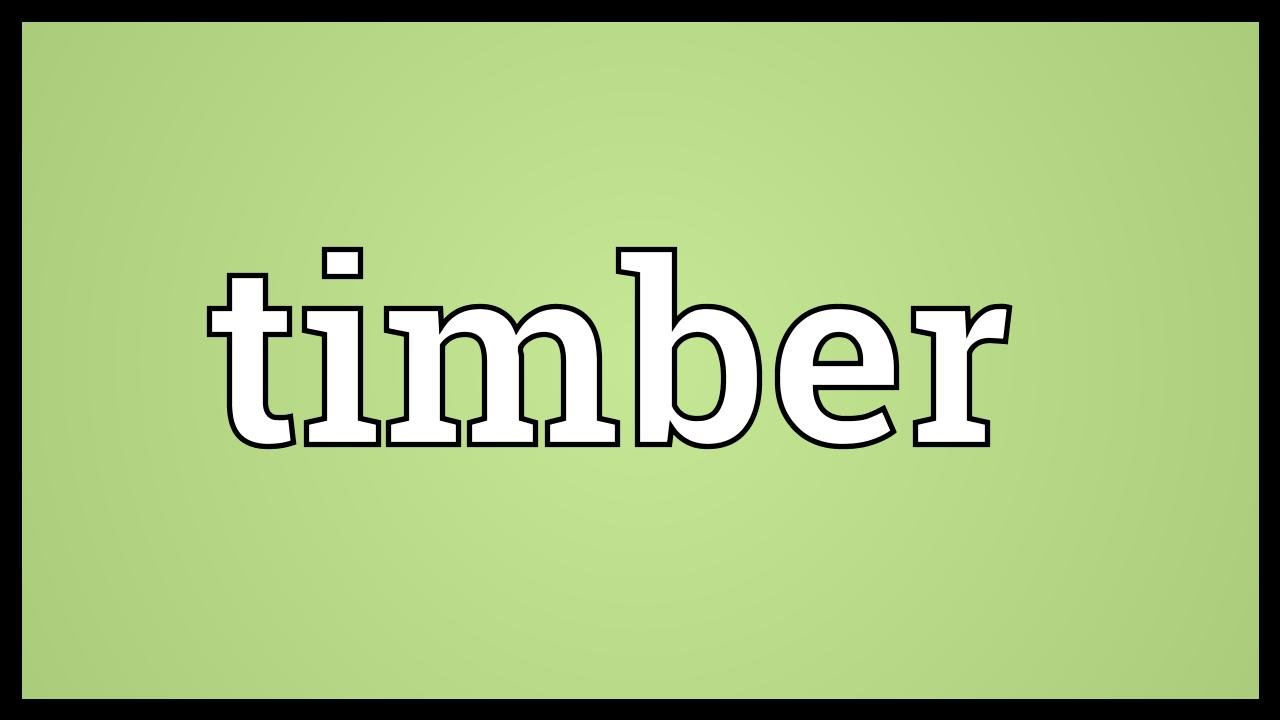 Timber Meaning