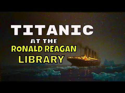 Titanic:in Simi Valley museum artifacts 1912 in a ship model history artifacts ocean video traveling