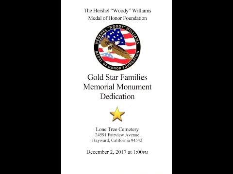 Gold Star Families Memorial Dedication,  December 2,  2017 HD 1080p