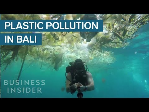 A Diver Filmed Shocking Footage Of Plastic Waste Off The Coast Of Bali