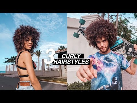 3 QUICK CURLY HAIRSTYLES HUSBAND VS WIFE