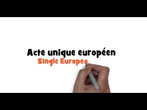 How to write Single European Act in French