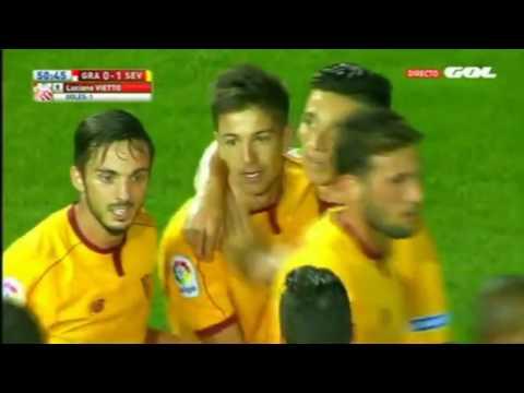 ¡Qué presentación, papá! Mirá el golazo que clavó Vietto para el Sevilla