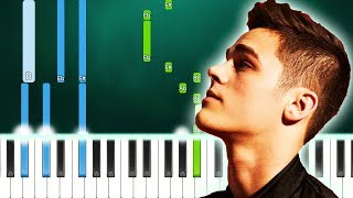 AJ Mitchell - Down In Flames (Piano Tutorial Easy) Von MUSICHELP